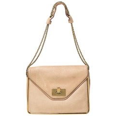 Chloe Beige Leather Sally Medium Shoulder Bag