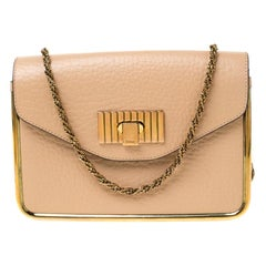 Chloe Beige Leather Small Sally Shoulder Bag