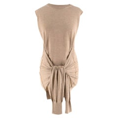 Chloe beige waist tie sleeveless knit top Size L