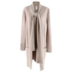 Chloe Beige Wool Knit Longline Cardigan - Size L