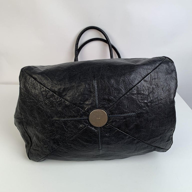 Chloe Bicolor Color Block Suede and Leather Large Tote Bag In Good Condition For Sale In Rome, Rome