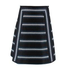 Chloe Black Embroidered A-Line Skirt 40 FR