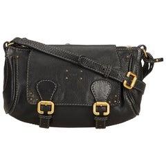 Chloe Black Leather Crossbody Bag