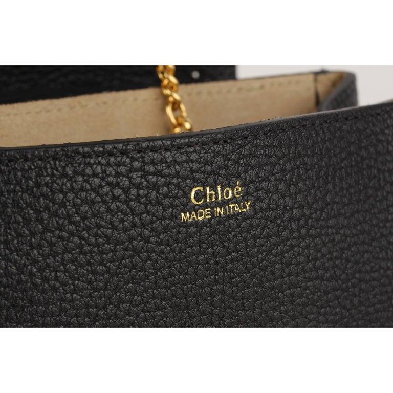 Chloe Black Leather Drew Crossbody Messenger Bag 6
