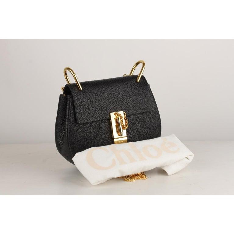 Chloe Black Leather Drew Crossbody Messenger Bag 7
