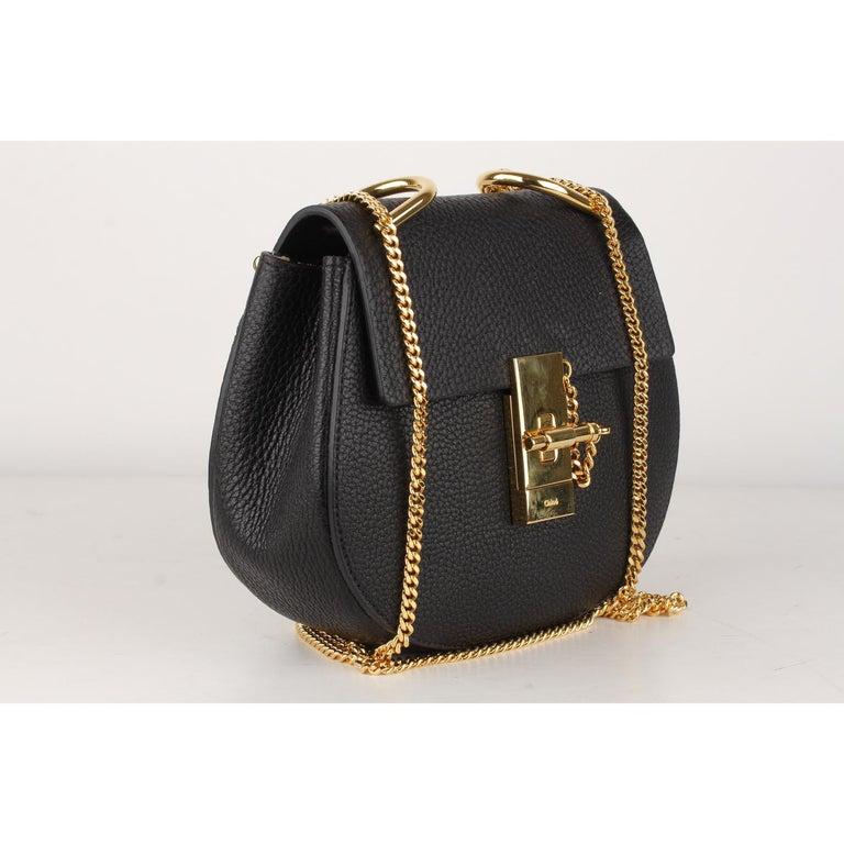Chloe Black Leather Drew Crossbody Messenger Bag 1