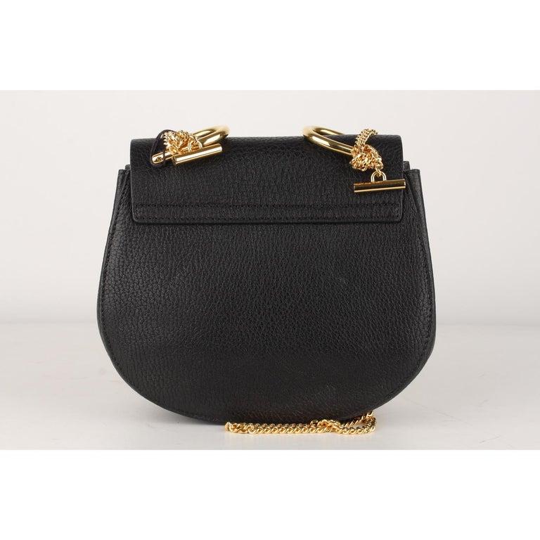 Chloe Black Leather Drew Crossbody Messenger Bag 2