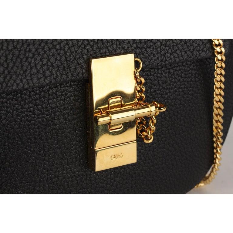 Chloe Black Leather Drew Crossbody Messenger Bag 3