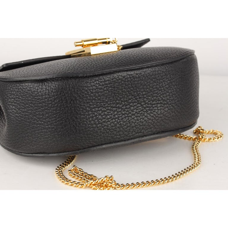 Chloe Black Leather Drew Crossbody Messenger Bag 4