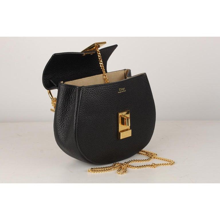 Chloe Black Leather Drew Crossbody Messenger Bag 5