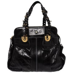 Chloe Black Leather Heloise Satchel