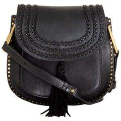 CHLOE black leather HUDSON MEDIUM Shoulder Bag