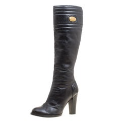 Chloe Black Leather Knee High Boots Size 39