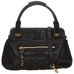 Chloe Black Leather Margaret Satchel