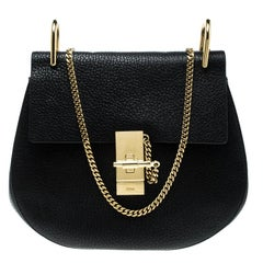 Chloe Black Leather Medium Drew Shoulder Bag