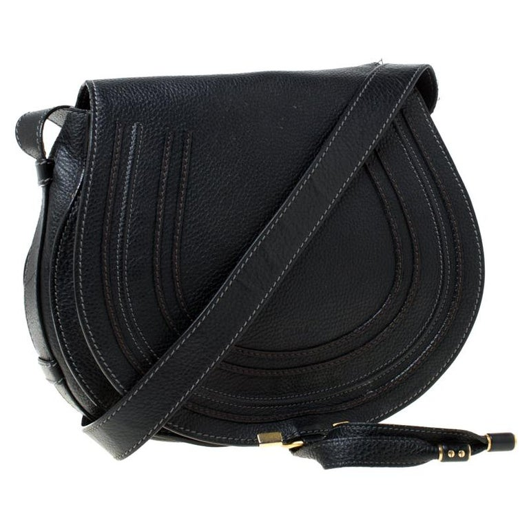 discount shop best sellers top-rated genuine Chloe Black Leather Medium Marcie Crossbody Bag