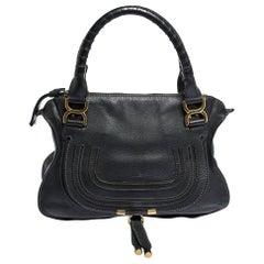Chloe Black Leather Medium Marcie Satchel