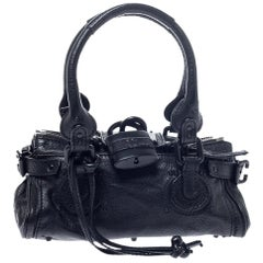 Chloe Black Leather Mini Paddington Bag