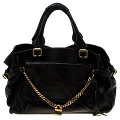 Chloe Black Leather Paddington Capsule Satchel