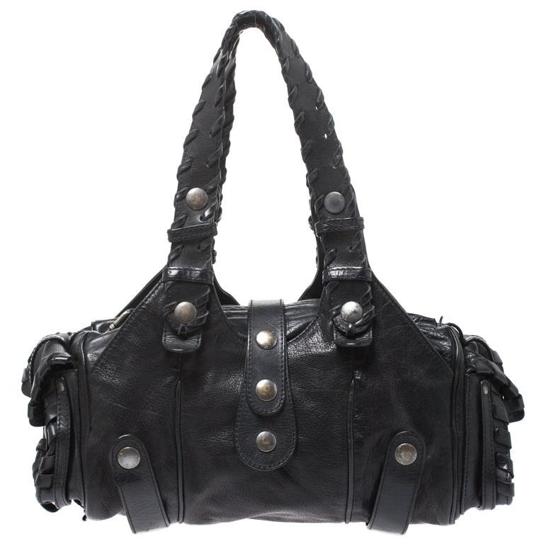 Chloe Black Leather Silverado Satchel