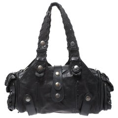 Chloe Black Leather Silverado Satchel
