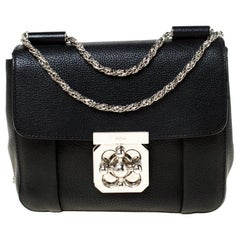Chloe Black Leather Small Elsie Shoulder Bag