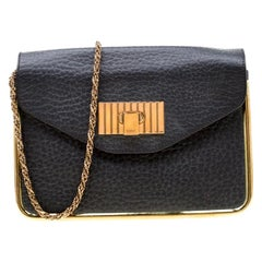 Chloe Black Leather Small Sally Shoulder Bag