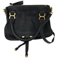 Chloe Black Marcie Medium Satchel Bag