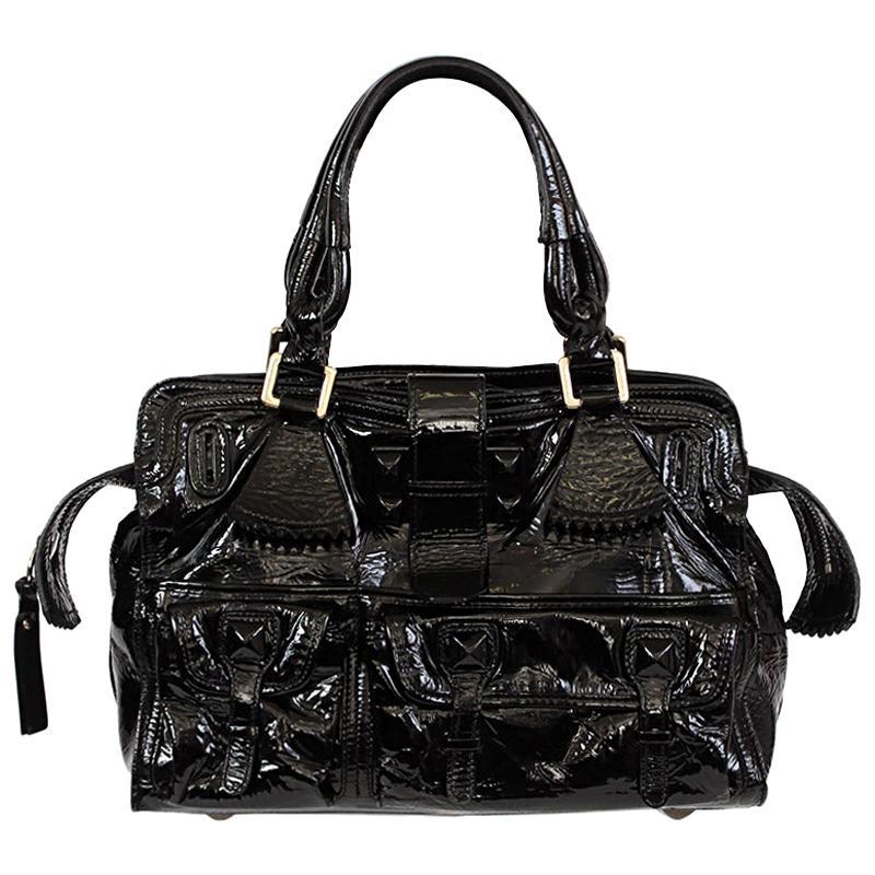 CHLOE black patent leather ELVIRE Shoulder Bag