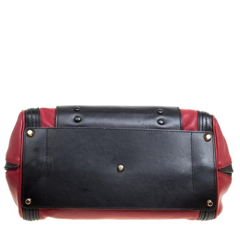 Chloe Black/Red Leather Small Alice Satchel For Sale 6