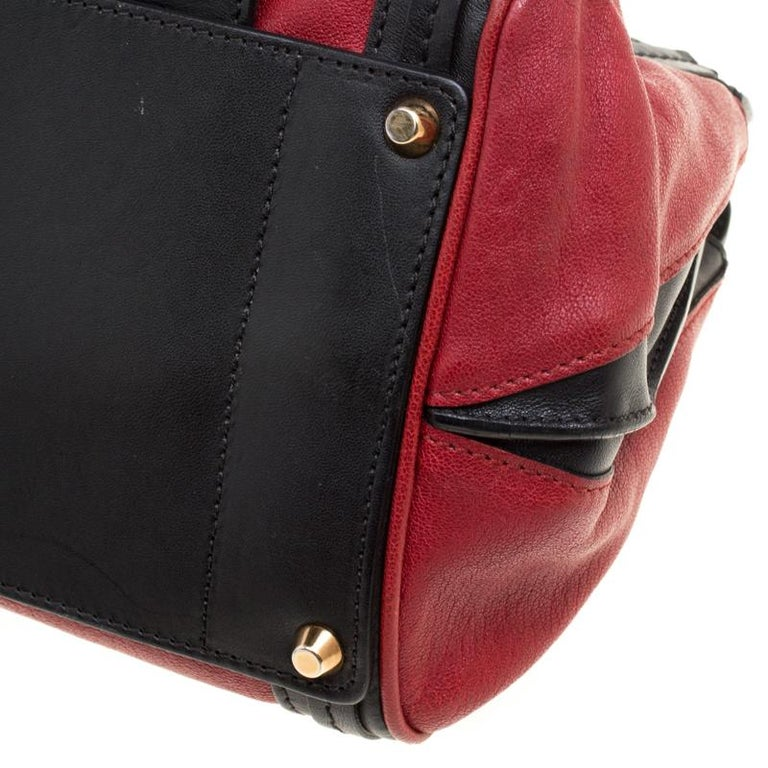 Chloe Black/Red Leather Small Alice Satchel For Sale 4