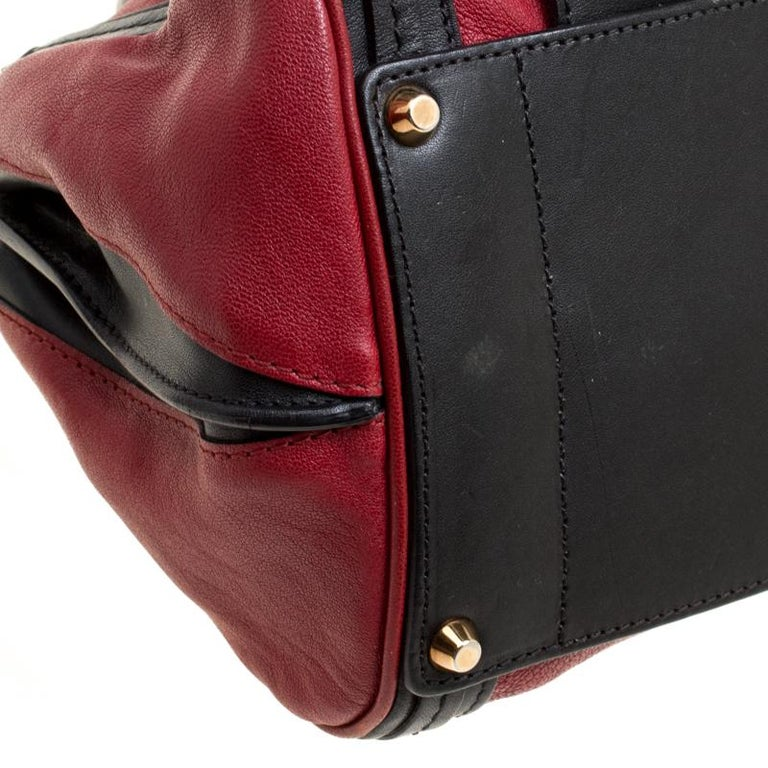 Chloe Black/Red Leather Small Alice Satchel For Sale 5