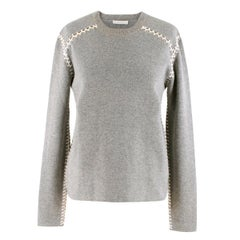 Chloé Blanket Stitch Cashmere Cotton Sweater S