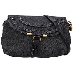 Chloe Blue Denim Marcie Crossbody Bag