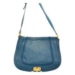 Chloe Blue Leather Marci Crossbody Bag