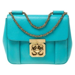 Chloe Blue Leather Small Elsie Shoulder Bag