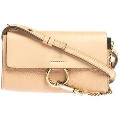 Chloe Blush Leather Mini Faye Shoulder Bag