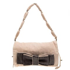 Chloe Blush Pink Leather Bow Shoulder Bag