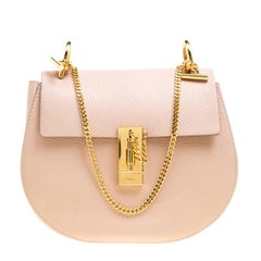 Chloe Blush Pink Leather Medium Drew Shoulder Bag