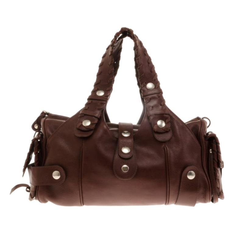 a438b13a615 Chloe Brown Buffalo Leather Silverado Bag For Sale at 1stdibs