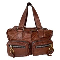 Chloe Brown Leather Betty Shoulder Bag