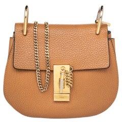 Chloe Brown Leather Drew Shoulder Bag