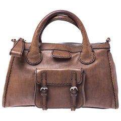Chloe Brown Leather Edith Satchel
