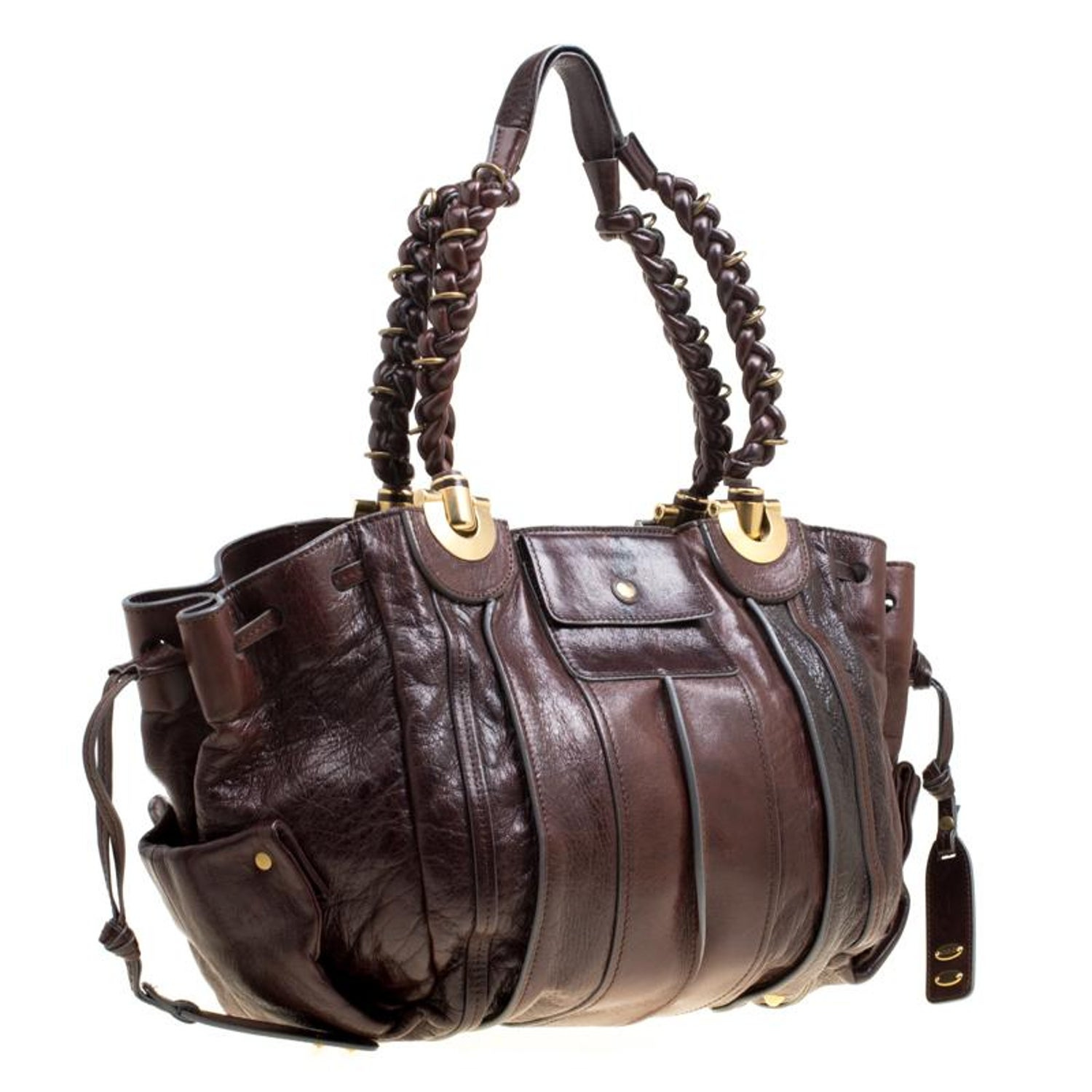 Chloe Brown Leather Heloise Drawstring Hobo For Sale at 1stdibs 82068774365f3
