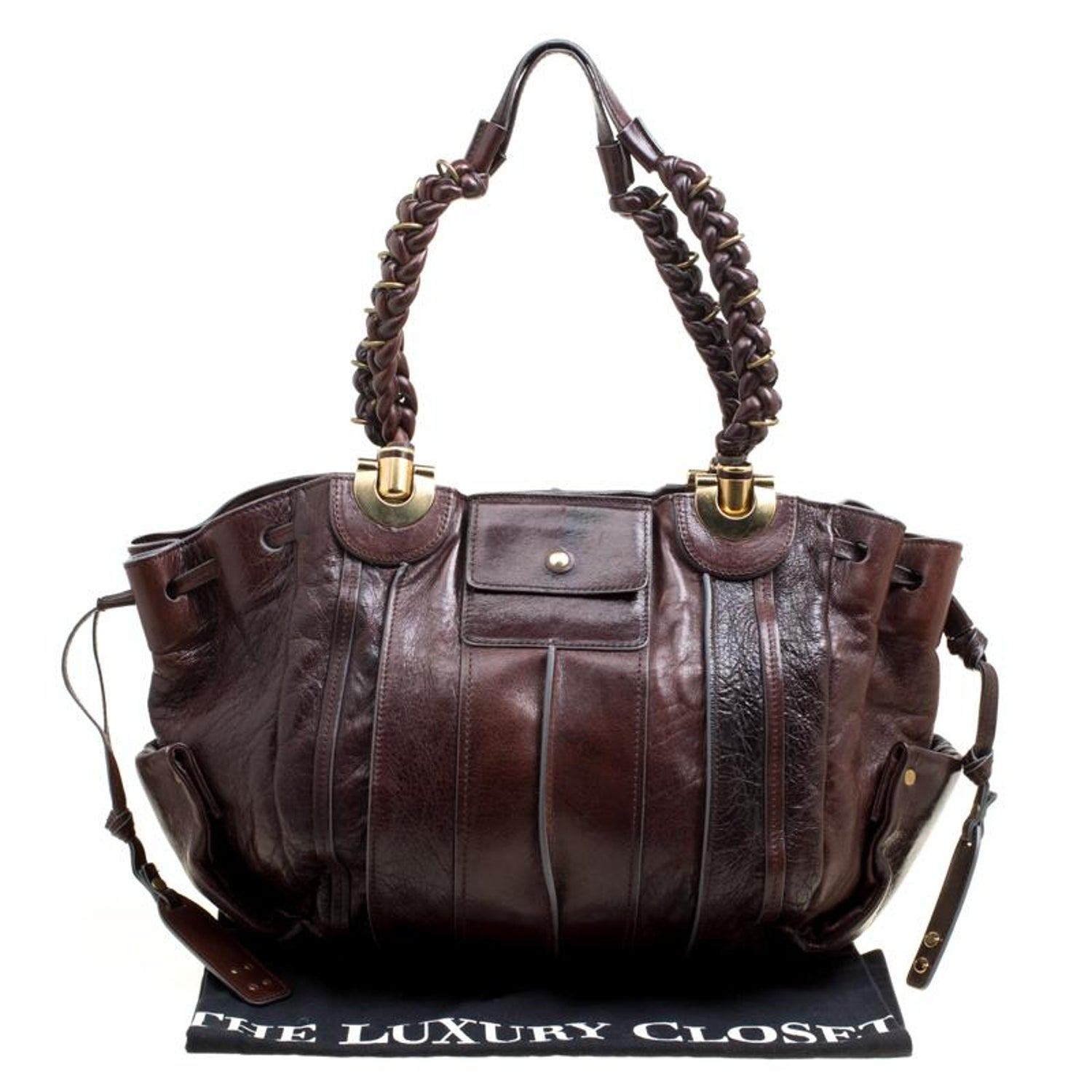 cc1743c3ca Chloe Brown Leather Heloise Drawstring Hobo For Sale at 1stdibs