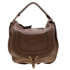 Chloe Brown Leather Large Marcie Satchel