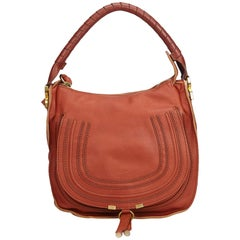 Chloe Brown Leather Marcie Handbag