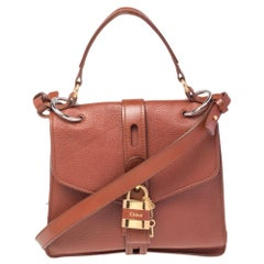 Chloe Brown Leather Medium Aby Day Top Handle Bag