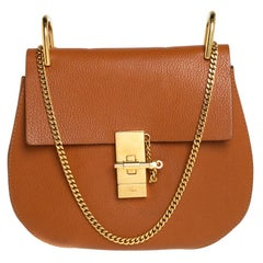 Chloe Brown Leather Medium Drew Shoulder Bag