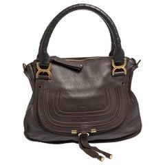 Chloe Brown Leather Medium Marcie Satchel